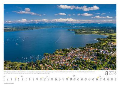 Starnberger See<br>Jetzt ist Bade- und Segelzeit hier bei der schönen Gemeinde Tutzing am Starnberger See.  Die Lage ist einfach fabelhaft und von hier reicht der Blick über den unter Naturschutz stehenden Karpfenwinkel und das Höhenrieder Horn zum Südende des Sees und weiter zu den Bergen der bayerischen Alpen.