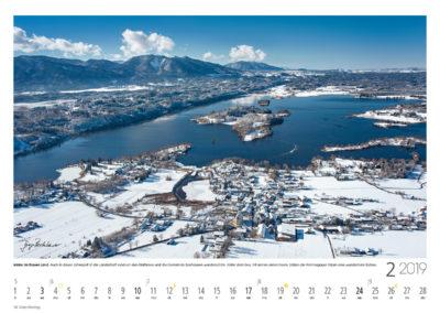 Winter im Blauen<br>Land Auch in dieser Jahreszeit ist die Landschaft rund um den Staffelsee und die Gemeinde Seehausen wunderschön. Hinter dem See, mit seinen vielen Inseln, bilden die Ammergauer Alpen eine wunderbare Kulisse.
