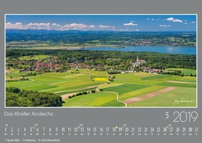 Das Kloster Andechs <br>thront auf dem heiligen Berg hoch über dem südlichen Ammersee, ein herrliches Eldorado für fromme und auch genussfreudige Pilger. Zahlreiche Wege durch bunte Wiesen und Felder laden bereits im Frühling zu gemütlichen Rundtouren ein.