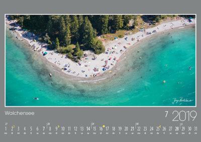 Walchensee<br>Eine kleine Landspitze ragt am Südufer des Walchensees in den See hinein und ist an den heißen Tagen ein höchst beliebter Badeplatz.