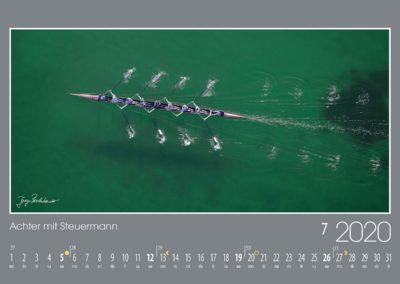 Achter mit Steuermann<br>Der Starnberger See ist ein Paradies für Wassersportler, so auch für die Ruderer im großen Riemen-Achter mit Steuermann.